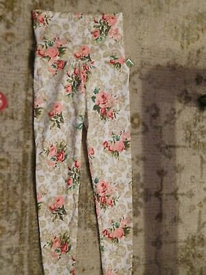 Womens Floral Maternity Spring Leggings New Size S/M? - See Measurements