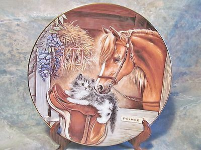 "Royal Worcester Kitten Encounters ""stablemates"" Porcelain Horse Cat Plate Cooper"