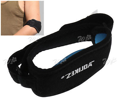 Tennis Elbow Brace Support Golfer Strap Epicondylitis Wrap Lateral Pain Black