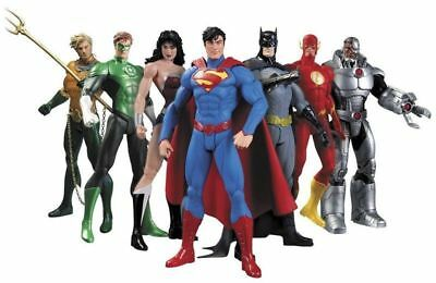 7 PCS Justice League Superman Batman Flash Aquaman DC Universe action Figures