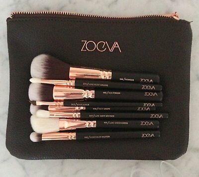 "ZOEVA Rose Golden Luxury Set ""Romantic Copper"" Vol.1 ( 8 Essential Brushes)"