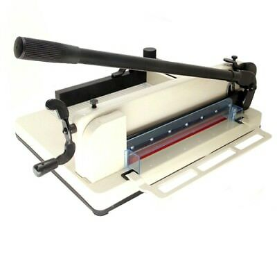 """HFS Heavy Duty Guillotine Paper Cutter - 12"""" Commercial 858 A4"""