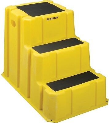 3 Step Nestable Plastic Step Stand - Yellow 25-3/4'W X 42'D X 29'H - NST-3-14