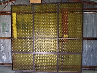 Retro vintage glass window. Large 2285 tall x 2400 wide. PICK UP ONLY WONTHAGGI.