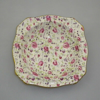 Vintage Royal Winton Grimwades Chintz Square Dish - Du Barry