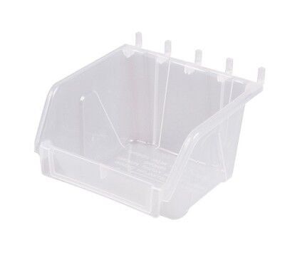 Slatbox Hobibox tubs H01 to suit pegboard. Clear only 115mm x 110mm x 75mm.