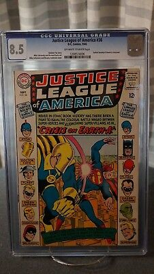 Justice League Of America #38 - Cgc 8.5 - Justice Society Crossover Issue
