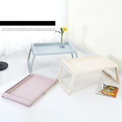 Laptop Table Notebook Desk Plastic Foldable Folding Bed Table Computer Desk Pop.