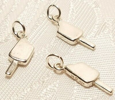 Heavy Ice Cream Sundae Dessert 3D .925 Solid Sterling Silver Charm MADE IN USA