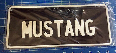 Mustang  B/w Medium Standard Usa Style Novelty  Number Plate