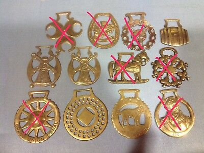 Vintage Horse Brass Medallions, Priced per brass. Combined Shipping