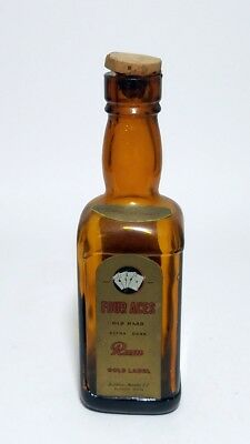 Miniature Bottle Four Aces Old Hard Extra Dark Rum Gold Label
