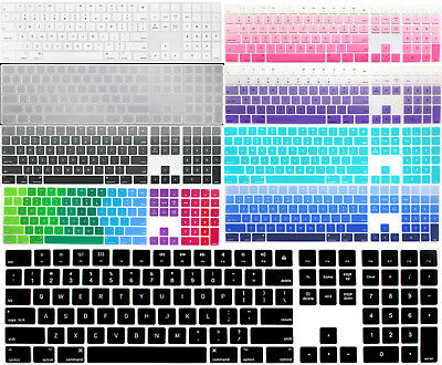 For Apple Magic Keyboard A1843 w Numeric Pad US English keyboard Skin Cover Mult