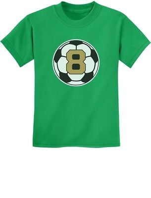8 Year Old Eighth Birthday Gift Soccer Youth Kids T Shirt Eight