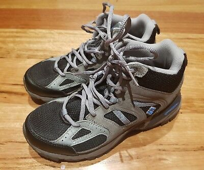 Columbia boys grey hiking boots size US 7 shoes
