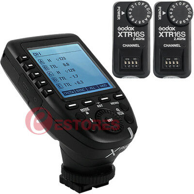 Godox XPro-S 2.4G TTL Wireless Flash Trigger + 2Pcs XTR-16S Receiver For Sony
