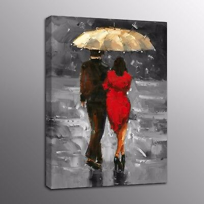 700mm  Painting PRINT rain walk Large Modern Abstract Art Wall Deco canvas Art