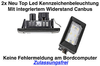 2x TOP LED 6x SMD Modul Kennzeichenbeleuchtung Audi A4 8W2 B9 Limo (ADPN