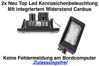 2x TOP LED 6x SMD Modul Kennzeichenbeleuchtung Audi A5 Coupe 8T3 (ADPN