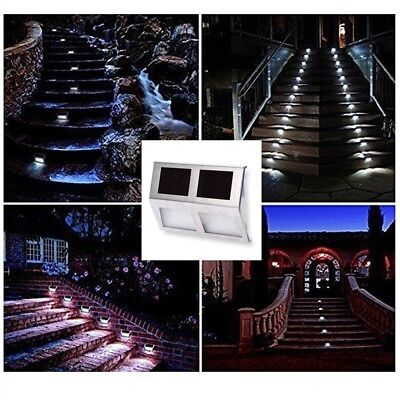Solar Powered LED Light Path Stair Wall Mounted Fence Step Outdoor Garden Lamp