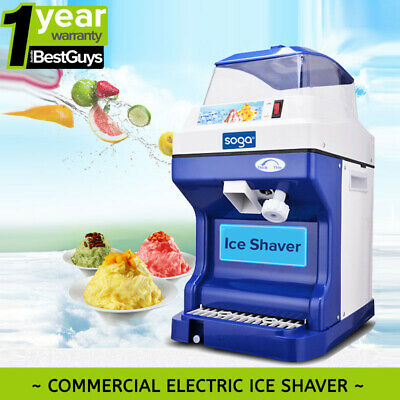 Electric Commercial Snow Cone Machine Ice Maker Ice Shaver Ice Crusher 220V 88