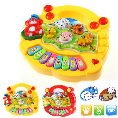 Baby Kid Musical Educational Animal Farm Piano Developmental Music Toy Gift UP
