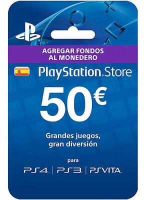 ES €50 EUR PLAYSTATION NETWORK Card [Spain] PSN PS3 PS4 CD Key Tarjeta Prepago