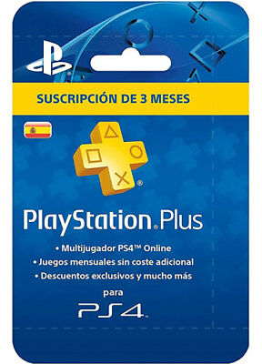 PlayStation Plus 90 Days/Meses [ES Store, Spain] CD Key PSN PSP PS4 Tage Code