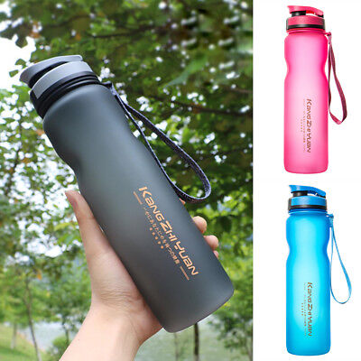1000ml Outdoor Sports Drinking Water Bottle Leak-Proof Cycling Travel Cup 1L