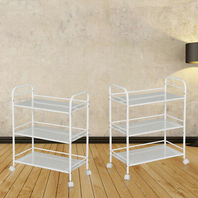 New 3 Shelf Trolley Steel Cart Wax Treatment Beauty Salon Spa Shelf Storage