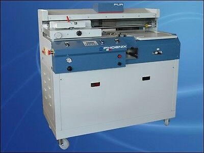 Phoenix Single Clamp Perfect Binder with Extruded EVA/PUR. Mfg by OMM Marchetti