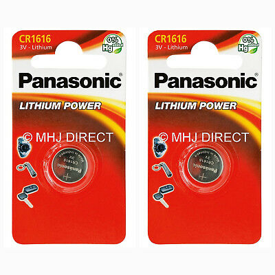 2 x Panasonic 1616 DL1616 CR1616 ECR1616 3v Batteries Coin Cell Use By 2027