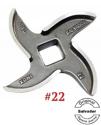 Mincer Blade No 22 Stainless Steel, Curved Edge Genuine Salvador x5