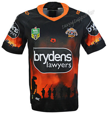 Wests Tigers 2018 NRL Anzac Jersey Sizes S-7XL BNWT