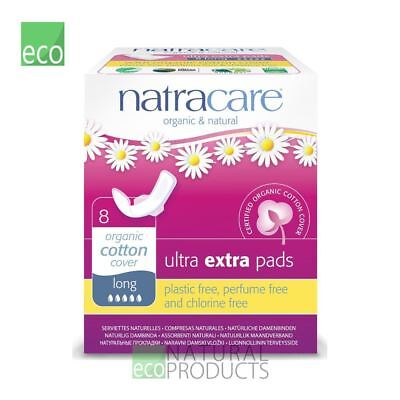 Natracare Organic Cotton Ultra Extra Pads 8 Long