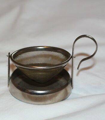 Vintage Chinese Tea Strainer Retro - Swivel Sieve - No Spill ,,,,