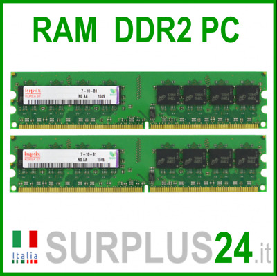 HYNIX KIT RAM 4Gb (2x2Gb) PC2-6400U DDR2-800Mhz 240pin Memoria x DESKTOP No Ecc