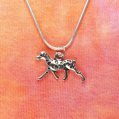 "Dalmatian Dog Necklace Double Sided Pet Breed Lover pick 16-36"" chain Dalmation"