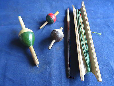 Small Collection Of Vintage Floats And Winder