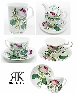 Roy Kirkham Redoute Rose China Teacup, Saucers, Mugs or Tea for One Sets