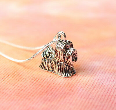 Shih Tzu Dog Necklace, Pet Toy Breed Lover Chrysanthemum Charm Pendant Gift Box