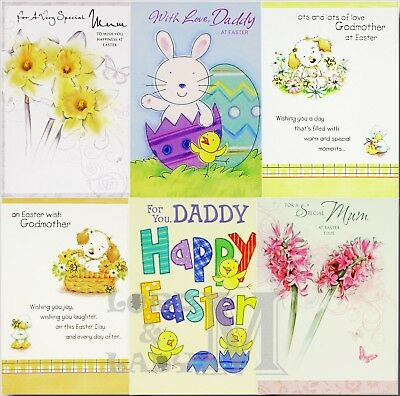 Mum / Daddy / Godmother Easter Card - Various Designs