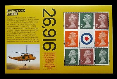 DY25 2018 The RAF CENTENARY PSB Prestige DEFINITIVE BOOKLET Pane