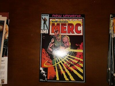 Mark Hazzard Merc #1 New Universe Nm Near Mint 11/86 Signed By Jim Shooter