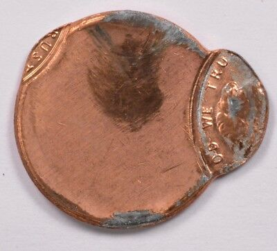 1c Lincoln Cent Small Hump Saddle Strike UNC Red Scratched