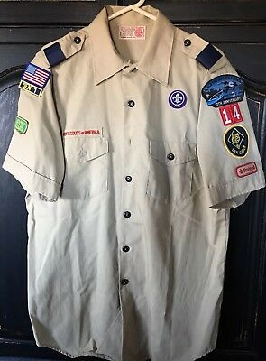 Boy Scout  BSA Uniform Short Sleeve Shirt - Size Adult L Large -EXCELLENT!!