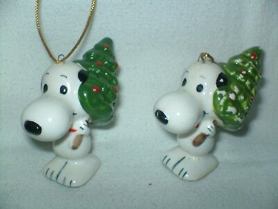 Peanuts 1958 1966 United Feature Syndicate Snoopy Christmas Tree Ornament Japan