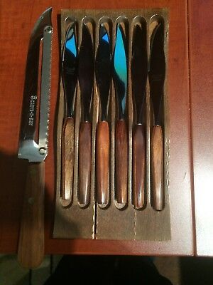 town and country cutlery 6 steak knives and carve and saw perfect condition