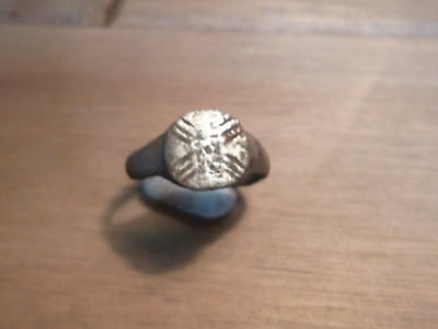 Fantastic Roman X Decorated Ring-Metal Detecting Find