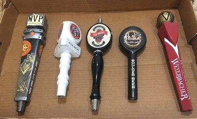 Assorted Beer Tap Handles (Lot Of 5) - 9 To12 Inch Handles Great Collectors Item